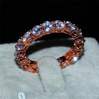 Wholesale Eternity Band Gold Diamond - 2.29 ETERNITY BAND ENGAGEMENT WEDDING gemstone Rings DIAMOND simulated ROSE GOLD RING FOR WOMEN ep Size 5,6,7,8,9,10