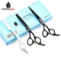 Wholesale Hair Stylist Cutting Scissors Kit - Hot Hair Scissors Hair Cutting and Thinning Scissors Set 6 inch Black Hairdressing Salon Shears Kit for Stylist Barber