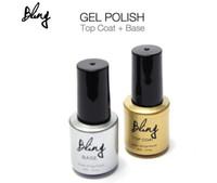 Wholesale Base Bling - Hot Sales Bling Top Coat + Base Set Polish 6ml Sock-off Gel Polish Long-lasting Nail Art Manicure Color Shining Gel