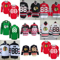 Hot Sale Mens Womens Kids Chicago Blackhawks 88 Patrick Kane Red Black  Green White Best Quality Embroidery Logos Ice Hockey Jerseys 65f054135