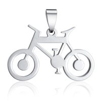 Wholesale Bicycle Jewelry Women - Women Pendants Necklace Beautiful Bicycle Jewelry Stainless Steel Fashion New Arrival Gorgeous Silver Charming Gifts BXL0000167