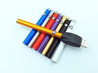 ağır buhar toptan satış-HighQuality CE3 O-kalem BUD Düğme Manuel Pil Kalem 280 mAh Buhar kalem 510 Balmumu Yağı Kartuşu Buharlaştırıcı için Ağır Duman