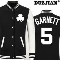 Wholesale Boys Youth Jacket - Wholesale- 2016 Spring new Celtics KG Kevin Garnett casual jacket cheap men winter jackets male coat boys jacket hip hop youth jackets