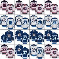 Wholesale Jet 18 - 2016 Heritage Classic 18 Bryan Little 27 Nikolaj Ehlers 29 Patrik Laine 34 Michael Hutchinson Winnipeg Jets Men's Stitched Hockey Jerseys