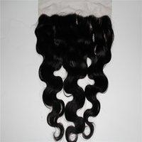 peluca de pelo promocion al por mayor-Promoción 1b color frontal del cordón del pelo humano frontal pelucas de las mujeres 13 * 6 pulgadas cuerpo onda pelucas del pelo de las mujeres peluca superior del oído al oído pelucas