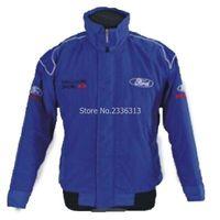 Wholesale Driver Jacket - Wholesale- for man Winter moto GP Ford jacket motorcycle motorbike biker clothes auto driver cotton fashion coats