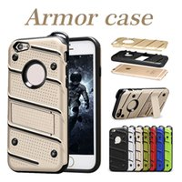 Wholesale Hybrid Rugged Case Rubber - For iPhone X 8 Rugged Armor Case Hybrid Rubber Cases For Samsung Note8 S8 Dirt-resistant Kickstand Cases 7 Colors With OPP Package
