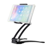 ipad hava tutacağı ayak aparatı toptan satış-Evrensel Gooseneck Tablet Danışma Dağı Tutucu Cradle 2 Standı 1 Tablet Tutucu Mutfak Montaj Duvara Montaj için ipad Hava / mini