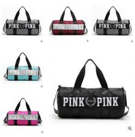 Wholesale Canvas Travel Bag Luggage - Canvas Secret Storage Bag organizer Large Pink Men Women Travel Bag Waterproof Victoria Casual Beach Exercise Luggage Bags