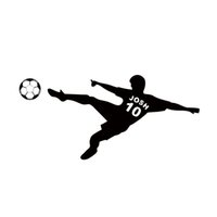 Wholesale Ball Poster - Football Wall Sticker Personalized Name & Number Soccer Ball Poster Vinyl PVC Decal Art Children Wall Stickers Kids Room Decor DIY