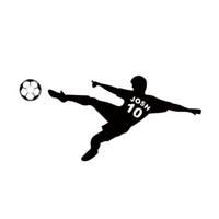futbol duvar çıkartmaları çocuklar toptan satış-Futbol Duvar Sticker Kişiselleştirilmiş Isim Numarası Futbol Topu Posteri Vinil PVC Çıkartması Sanat Çocuk Duvar Çıkartmaları Çocuk Odası Dekor DIY