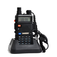 Wholesale Talkie Walkie Sets Two - Best Price Baofeng uv 5r Walkie Talkie 5W Portable Radio Set UHF&VHF Retevis RT5R 136-174MHz&400-520MHz Radio Comunicador A7105A