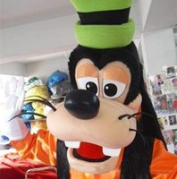 Wholesale Direct Sales Cartoons - Goofy Dog Mascot Costume Christmas Party Fancy Dress Cartoon Character Costumes Complete Outfits factory direct sale