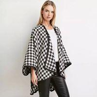 Wholesale White Elegant Scarves - Lattice Cloak White Black Wrap Over Coat Fashion Elegant Plus Size Shawls Scarves SUmmer Winter Topcoat Party Beach A131