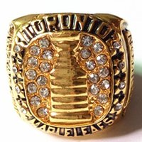 Wholesale Three Stone Channel White Plated - 1966 Toronto Three In Arow Horton Championship Ring
