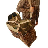 Wholesale Shoulder Bag Duck - 12 Slot Duck Decoy Bag with Padded Adjustable Shoulder Strap Slotted Decoy carriers for Duck Goose Turkey Hunting Accessories