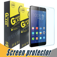 Wholesale Huawei G615 - Tempered Glass Shock Proof Screen Protector Film 9H 2.5D For Huawei P9 Honor 6 6Plus 5X 7 7i G521 G610 G615 G628