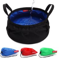 Wholesale Camping Foldable Buckets - Big Capacity 8.5L Portable Water Container Foldable Supply Cordura Nylon Bucket Box Washbowl For Outdoor Camping Picnic BBQ Travel Fishing