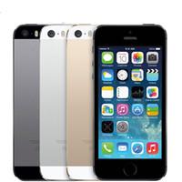 Wholesale Iphone 5s Ios - Refurbished Original Apple Iphone 5S Cellphone 4.0Inch Screen Dual Core 16G 32G 64G ROM 8.0MP Camera