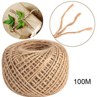 100M Jute Twine String Chanvre Corde Natural Brown Hang Tag Bijoux Fabrication Craft Party Festive Ruban Cadeau Wrap Cords DIY Décoration