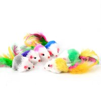 Wholesale cats fun - fat cat toysLovely Mouse for Cat Dogs Funny Fun playing contain catnip toys Pet supplies Mixed color 100pcs lot IC503