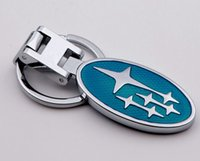 Wholesale Ford Key Fob Wholesale - 3D Car logo key Fob Car Keychain Keyring Key Chain Key Ring For Subaru Auto Accessories