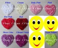 """Wholesale Shabby Chic Rosettes - Free USA ePacket CPAP 10y 100pcs 20 colors 3"""" Chiffon Rosette Hearts,Shabby Chic Chiffon Heart Appliques,Hair Accessories"""