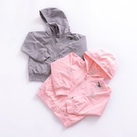 Wholesale Long Sleeve Tunic Baby - 2017 kids clothes Children 's Long Sleeve Coat Girls' Baby' s Autumn Tops Hooded Embroidery Tunic Coat