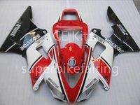 carenado en venta r1 yamaha al por mayor-3Gifts Nueva venta caliente kits de carenados de bicicleta para YAMAHA YZF-R1 1998 1999 r1 98 99 YZF1000 Cool negro blanco rojo SX6