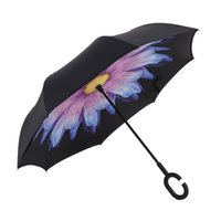 Guarda-chuvas invertidos com C-Handle Non Automatic Portable Sunny Umbrella Paraguas Rain Umbrella Anti-UV Parabole à prova de vento IUHF01-IUHF06