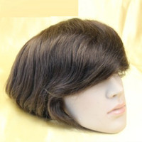 """Wholesale Mens Full Lace Wigs - #1#1b#2#3#4 Top quality Brazilian hair mens toupee Super Durable and Super Thin Skin toupee 7""""X9"""" base size for your choice"""