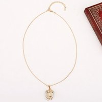 Wholesale Arab Gold Pendant - Arab Muslim Totem Pendant 24K Gold Plated Hollow Out Clavicle Necklaces for Women