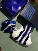 ingrosso scarpe di sconto per il basket-Sconto Vincere come '82 midnight navy 11s Gym Red 11s UNC scarpe da basket all'ingrosso Top Quality Athletic Sport Sneakers dimensione unisex libera la nave