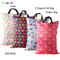 Tote Bag packing diaper bag - HappyFlute Pail Bag with handles Baby Diaper Baby Laundry with zipped Waterproof and Reusable pail liners bag Pack