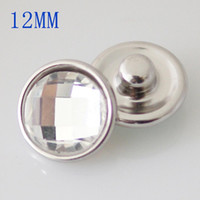 Wholesale diy jewelry crystal 12mm - Partnerbeads Mini Snaps Button faceted crystal Glass Small Chunks For DIY Interchangealbe 12mm Small Ginger Snaps jewelry KB3190-DA