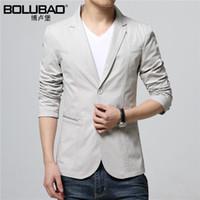 Wholesale High Fashion Suits For Men - Wholesale- 2016 New Arrival High Quality Brand Men Blazer Slim Fit Jacket Casual Fashion Mens Blazer Jacket Suit For Men Size M-3XL
