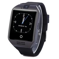 Wholesale Gps Tracker Micro - 1PCS Q18 Bluetooth Smart Watch Phone with 0.3M Camera MTK6261D Smartwatch for android phone Micro Sim TF card Men Women Watch