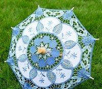 vender decorações de casamento venda por atacado-Festa de casamento Eco-Friendly Hot Selling New nupcial bordado Lace Parasol Decoração Umbrella 4Colorsff frete grátis
