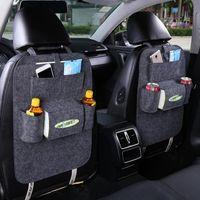 Wholesale Backseat Organizer - Insulation Work Style Auto Car Seat Organizer Sundries Holder Multi-Pocket Travel Storage Bag Hanger Backseat Organizing Box 170505