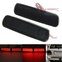 Wholesale Led Rear Bumper Reflectors - 2Pcs Car Fog Red Lens Rear Bumper Reflector Tail Brake SMD LED Light Fog For Lexus LX470 Night Driving Run Brake Stop Lamp