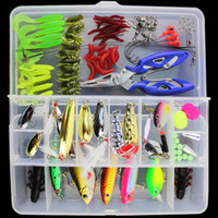 Wholesale Metals Weights - ALLBLUE Fishing Lure Minnow Popper Wobbler Spoon Metal Lure Soft Bait Fishing Lure Kit Isca Artificial Mixed Color Style Weight