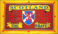 ingrosso bandiere scozia-Scotland the Brave Flag 3ft x 5ft Polyester Banner Flying 150 * 90cm Bandiera personalizzata esterna