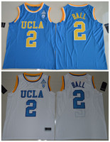Wholesale Basketball Ball Size - 2017 UCLA Bruins Lonzo Ball 2 College Basketball Authentic Jersey - White Size S,M,L,XL,2XL,3XL