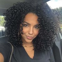 Wholesale Short Curly Lace Front - Full Lace Human Hair Wigs For Black Women Peruvian Short Kinky Curly Lace Front Wigs With Baby Hair DHL free shipping