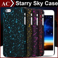 Wholesale Apple Plastic Effect - Bling 3D Starry Sky Ultrathin Slim Case Dimensional Stars Glitter Hard PC Cover For iPhone 5S SE 6 6S 7 Plus Star Frosted Visual Effect Skin