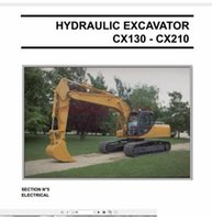 Case Crawler Excavators Manual de servicio, Operating Manual Schematic Full DVD