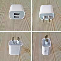 Wholesale Interface Travel - Dual interface 5v 2a AU  US plug usb charger power travel ac adapter for iphone Other smart phones
