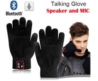 Wholesale Black Magic Speakers - Hi-Call Bluetooth Gloves Speaker Magic Talking Gloves Full Touch Glove For Moblie Phones Cell Phones Hands-Free Touch Function