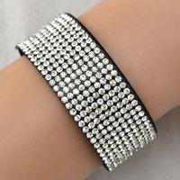 Wholesale Iron Chain Cuffs - Wholesale-Jewelry Wholesale China Wax Cord One Side Polishing Iron Stone Boho Bracelet 10 colors free shipping