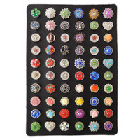 Wholesale display stands for earrings - Genuine Leather Display Stand for 60pcs Noosa chunks shown product fit 18mm snap buttons